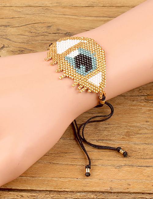 Fashion Gold Color Eye Shape Decorated Bracelet