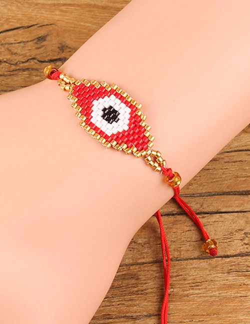 Fashion Red Eye Shape Decorated Bracelet