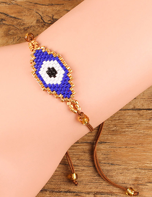 Fashion Blue Eye Shape Decorated Bracelet