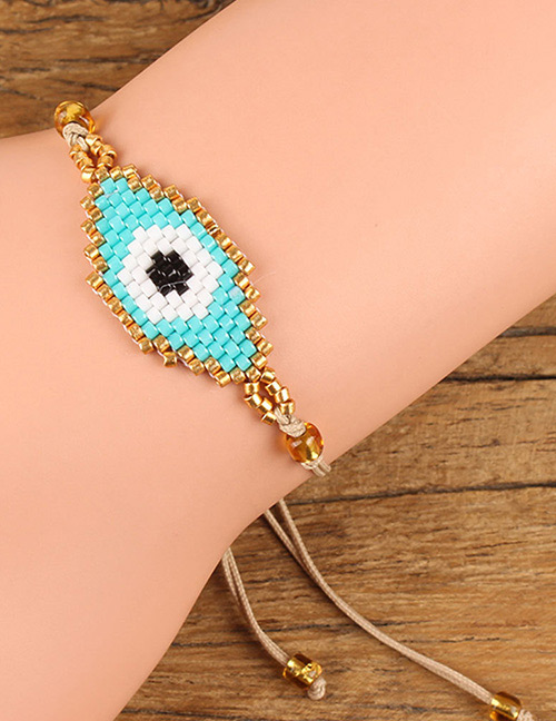 Fashion Light Blue Eye Shape Decorated Bracelet