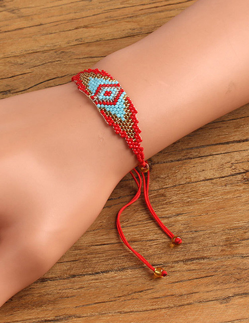 Fashion Red Eye Pattern Decorated Bracelet