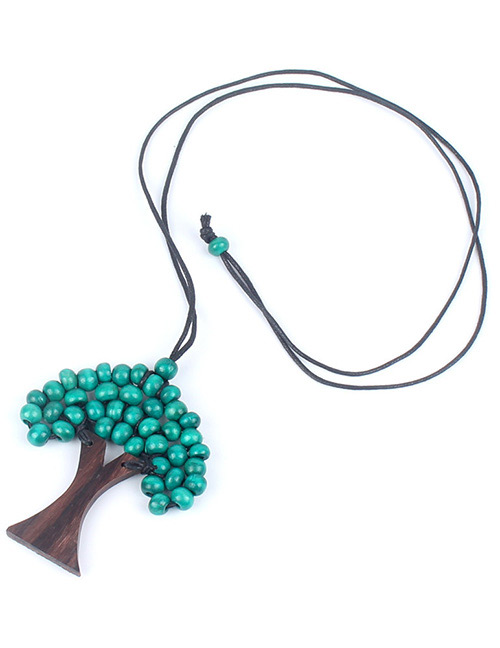 Fashion Green Tree Shape Decorated Necklace