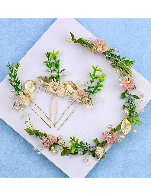 Fashion Green Flower Shape Decorated Hair Accessories