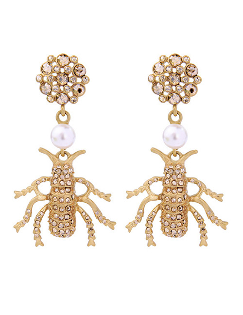 Fashion Gold Color Spider Shape Decorated Earrings