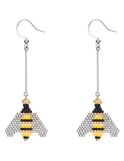 Fashion Silver Color Bee Shape Design Earrings