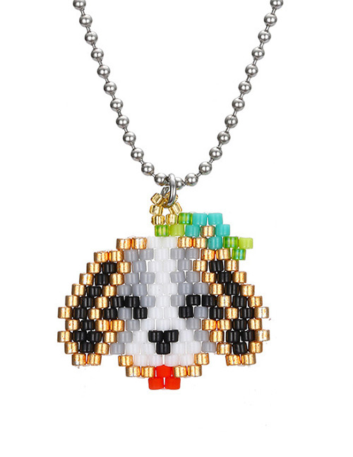 Fashion Silver Color Dog Shape Decorated Necklace