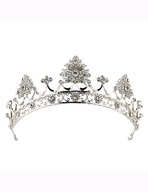 Fashion Silver Color Crown Shape Decorated Hair Accessories