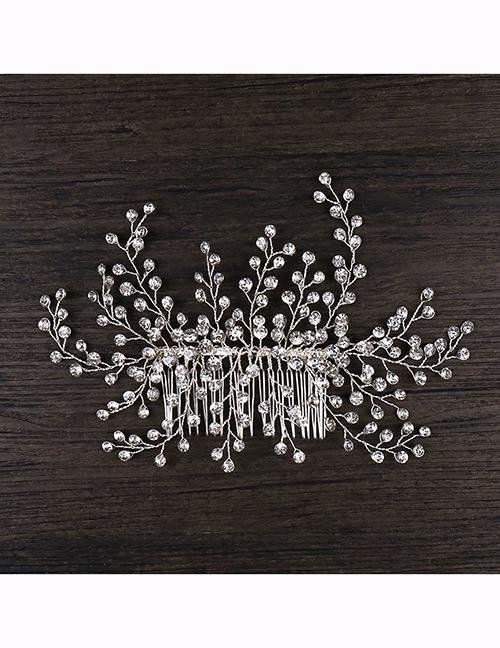 Fashion White Full Diamond Decorated Hair Accessories
