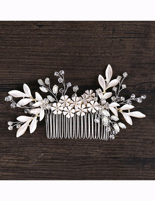 Fashion Beige Flower Shape Decorated Hair Accessories