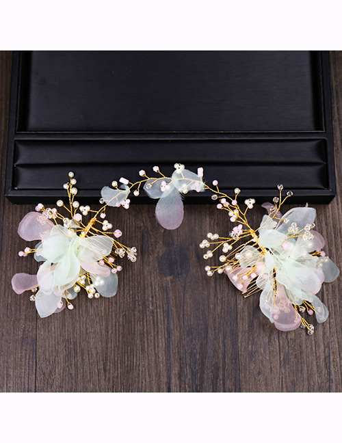 Fashion Light Pink Flower Shape Decorated Hair Accessories