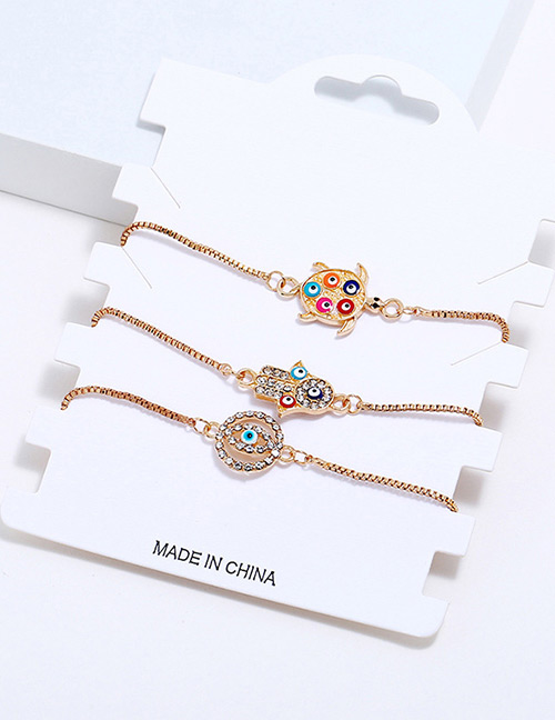 Fashion Gold Color Hand&tortoise Shape Decorated Bracelet (3 Pcs )