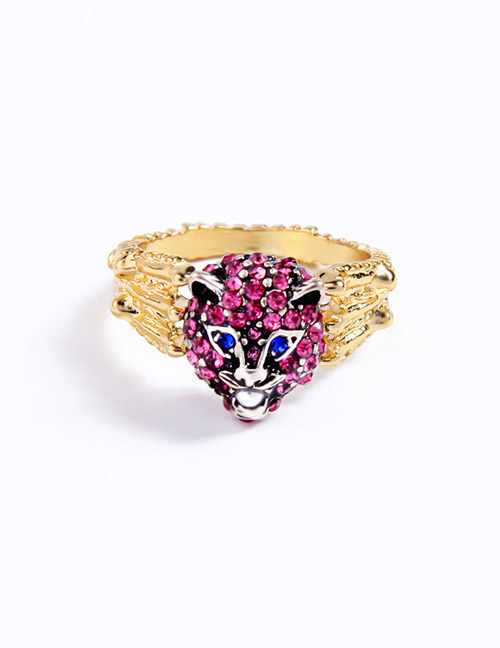 Fashion Red Leopard Shape Decorated Ring