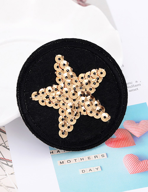 Fashion Black+gold Color Star Pattern Decorated Patch