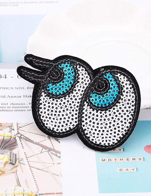Fashion Black+white Eye Shape Decorated Patch