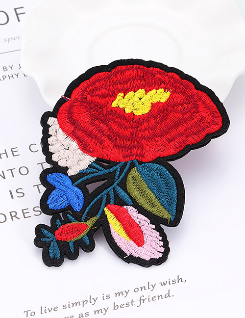 Fashion Multi-color Flower Shape Decorated Patch