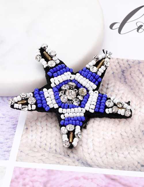 Fashion Blue Star Shape Decorated Patch