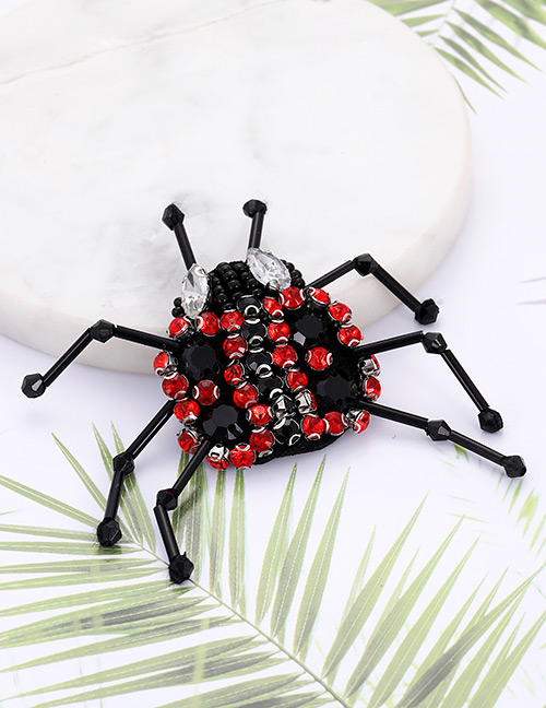 Fashion Black+red Ladybug Shape Decorated Patch