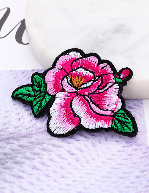 Fashion Plum Red Flower Shape Decorated Patch