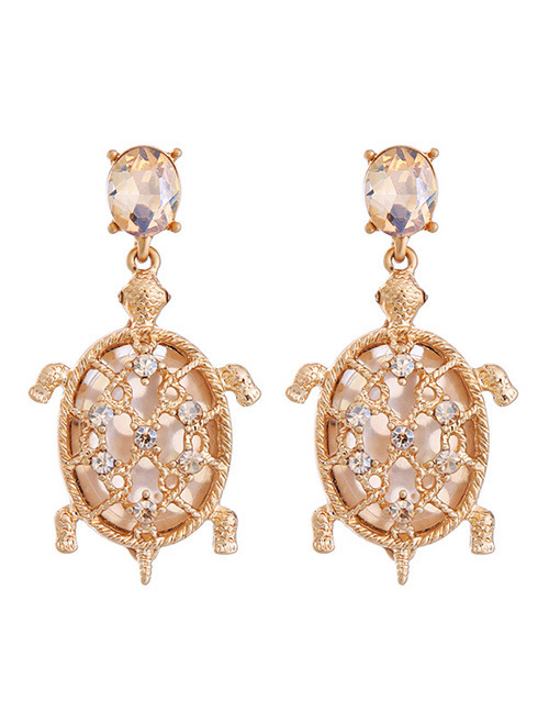 Fashion Gold Color Turtle Shape Decorated Earrings