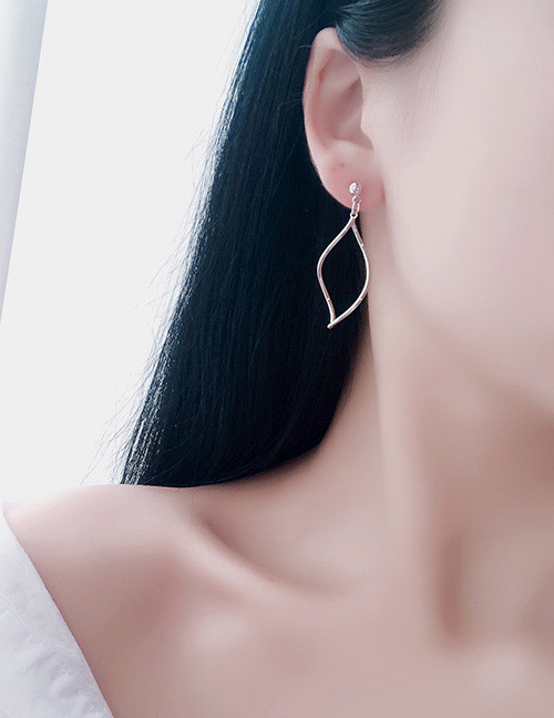 Simple Silver Color Pure Color Decorated Earrings