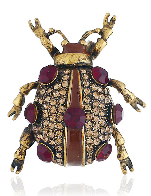 Fashion Yellow Insect Shape Decorated Brooch