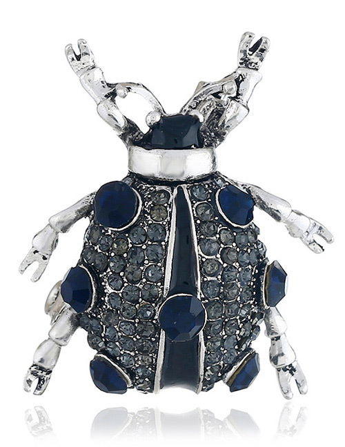 Fashion Black Insect Shape Decorated Brooch
