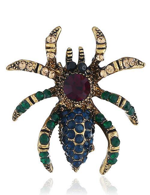 Fashion Black Spider Shape Decorated Brooch
