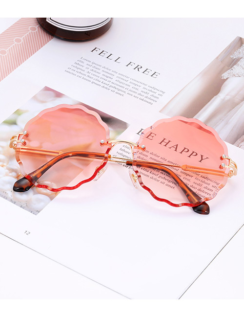 Fashion Red Flower Shape Decorated Sunglasses