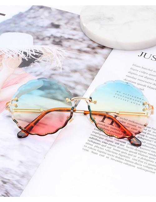 Fashion Multi-color Flower Shape Decorated Sunglasses