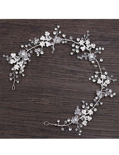 Fashion Silver Color Flower Pattern Decorated Hair Accessories