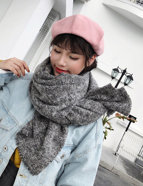 Fashion White+black Color Matching Design Simple Scarf