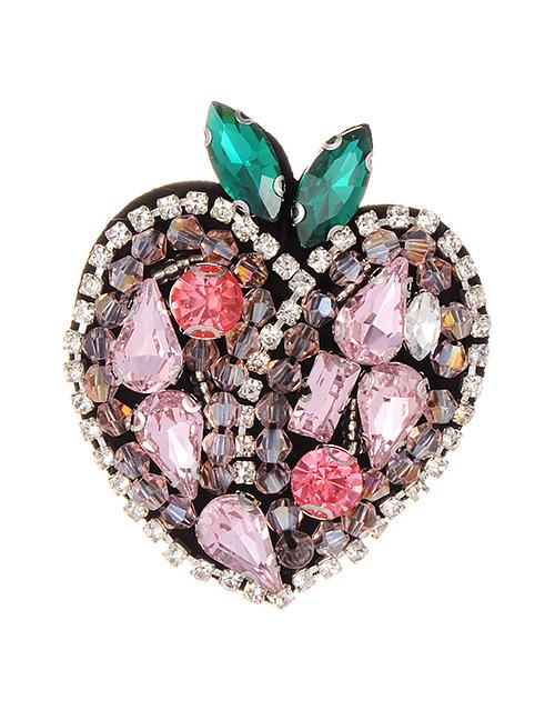 Fashion Multi-color Full Diamond Design Apple Shape Patch