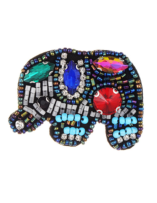 Fashion Multi-color Elephant Shape Design Color Matching Patch