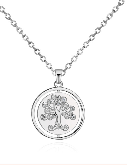 Fashion Silver Color Tree Pattern Decorated Necklace
