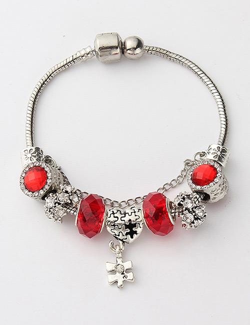 Fashion Red Heart Shape Decorated Bracelet