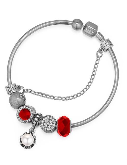 Fashion Red Geometric Shape Decorated Bracelet