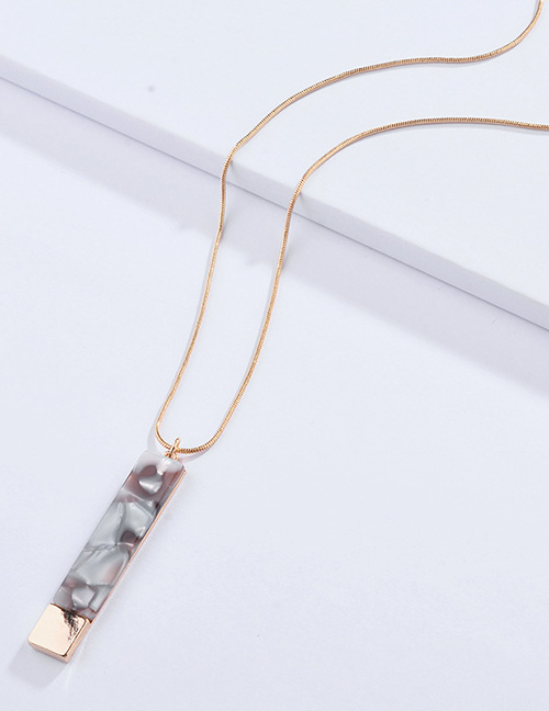 Fashion Light Green Square Shape Design Necklace