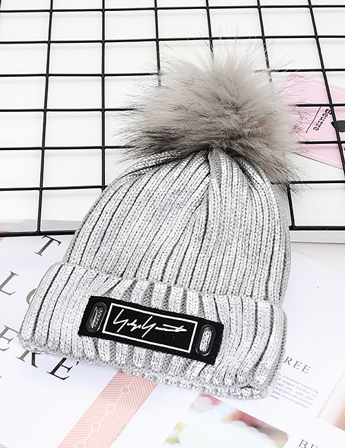 Fashion Silver Color Stripe Pattern Decorated Hat