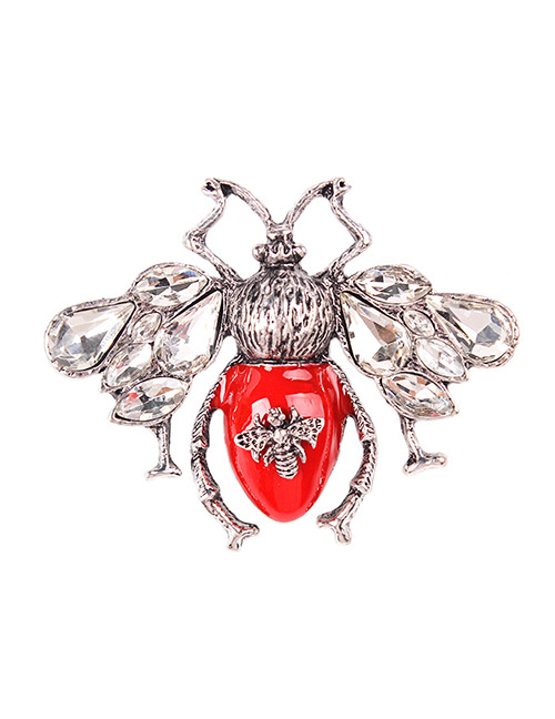 Fashion Red Bee Shape Design Brooch