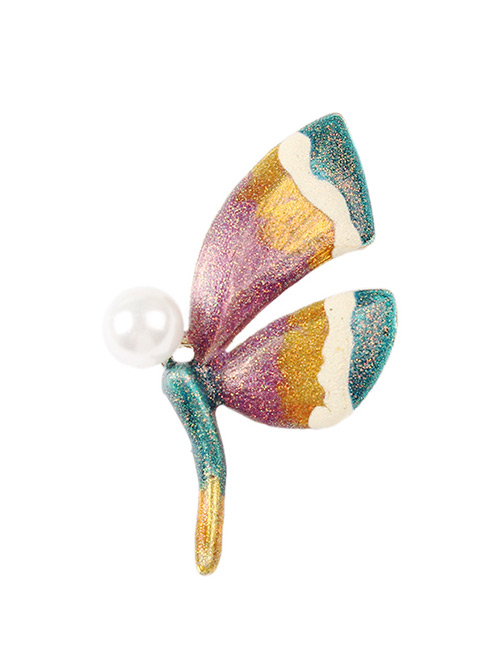 Fashion Multi-color Dragonfly Shape Design Brooch