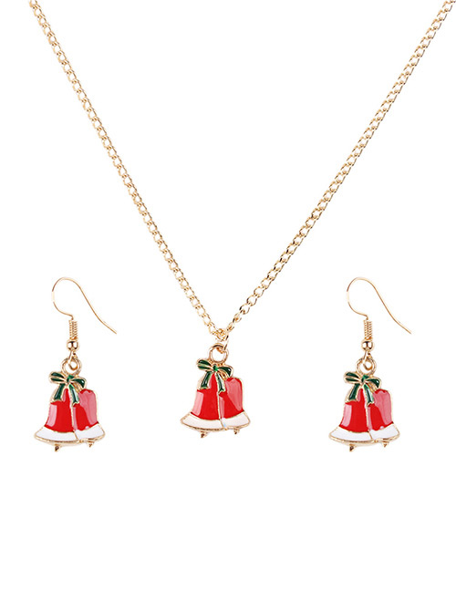 Fashion Red Bell Shape Decorated Jewelry Set