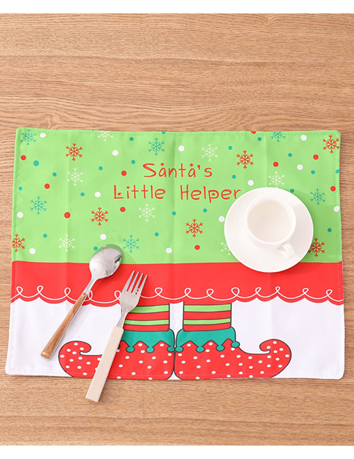 Fashion Multi-color Flower Pattern Decorated Placemat