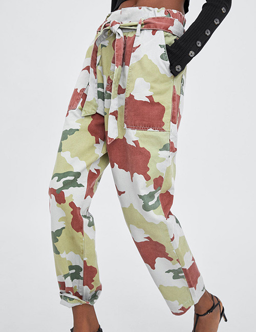 Fashion Camouflage Camouflage Pattern Decorated Pants