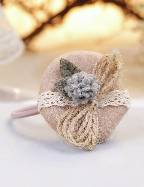 Lovely Pink Flowers Decorated Child Hair Band