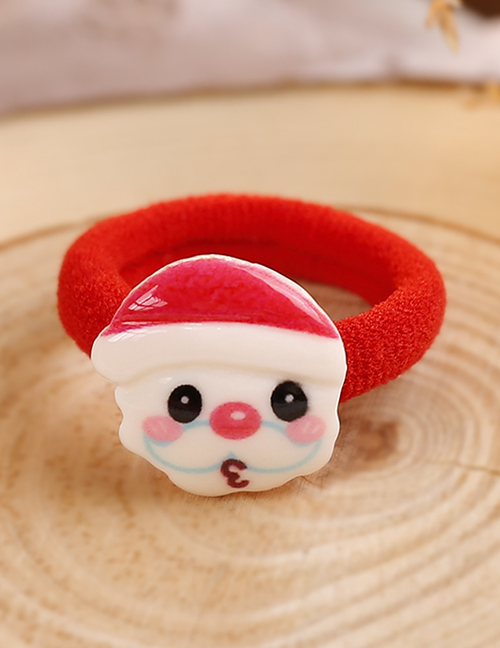 Lovely Red+white Santa Claus Decorated Hair Band(1pc)