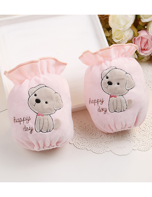 Fashion Light Pink Dog Pattern Decorated Sleeve For Child