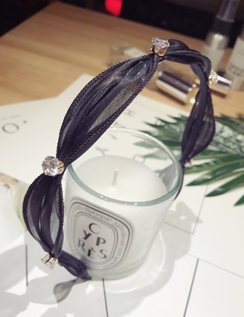 Fashion Black Diamond&lace Decorated Hair Hoop