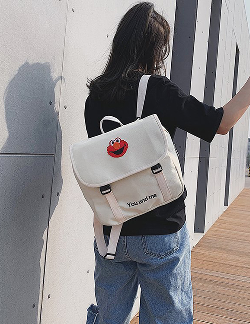 Fashion White Cartoon Canvas Backpack