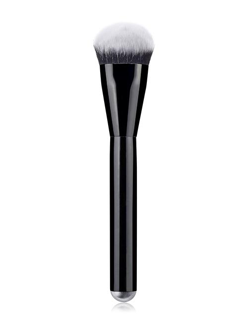 Fashion Black Single - Black Bright Handle - Foundation Brush - Black And White Hair