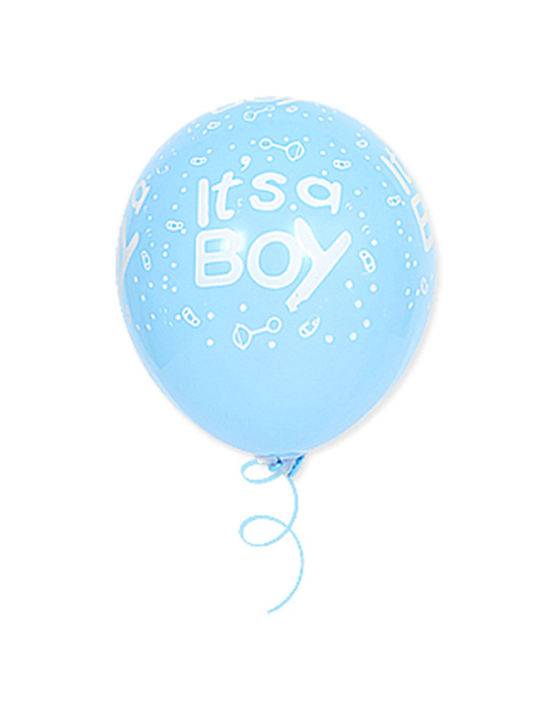 Fashion Fully Printed Blue It Sa Boy 12 Inch 10 Printed Letters Latex Balloons
